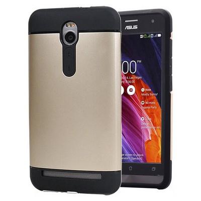 Microsonic Asus Zenfone 2 5.5'' Kılıf Slim Fit Dual Layer Armor Gold Cep Telefonu Kılıfı