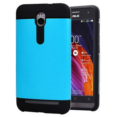 Microsonic Asus Zenfone 2 5.5'' Kılıf Slim Fit Dual Layer Armor Mavi Cep Telefonu Kılıfı