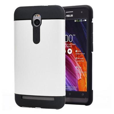 Microsonic Asus Zenfone 2 5.5'' Kılıf Slim Fit Dual Layer Armor Beyaz Cep Telefonu Kılıfı