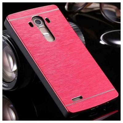 Microsonic Lg G4 Kılıf Hybrid Metal Kırmızı Cep Telefonu Kılıfı