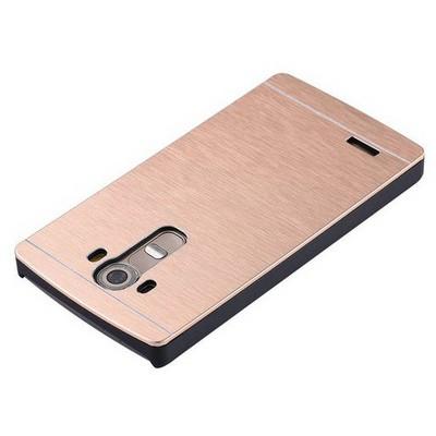 Microsonic Lg G4 Kılıf Hybrid Metal Gold Cep Telefonu Kılıfı