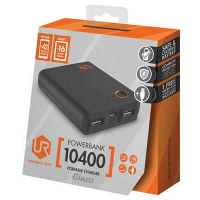 Trust Urban 20495 Cınco 10400 Mah Powerbank-siyah Taşınabilir Şarj Cihazı