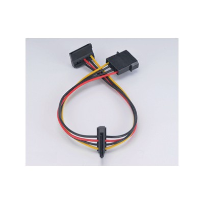 Akasa AK-CBPW01-30 0.30 Metre CBPW01-30 4Pin Molex'i 2x 15Pin SATA'ya Kablo Kasa İçi Kablolar
