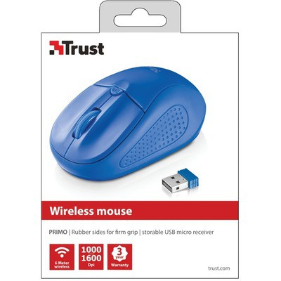 Trust Primo Kablosuz -mavi Mouse