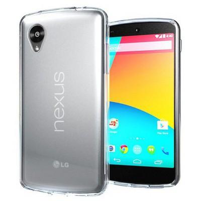 Microsonic Transparent Soft Lg Nexus 5 Kılıf Beyaz Cep Telefonu Kılıfı