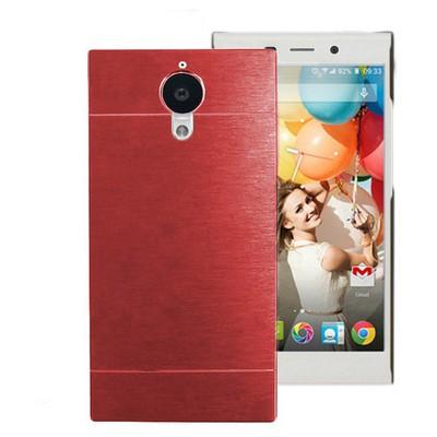 Microsonic General Mobile Discovery Elite Kılıf Hybrid Metal Kırmızı Cep Telefonu Kılıfı