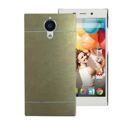 Microsonic General Mobile Discovery Elite Kılıf Hybrid Metal Gold Cep Telefonu Kılıfı