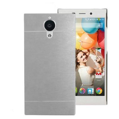 Microsonic General Mobile Discovery Elite Kılıf Hybrid Metal Gümüş Cep Telefonu Kılıfı