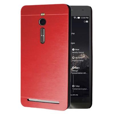 Microsonic Asus Zenfone 2 5.5'' Kılıf Hybrid Metal Kırmızı Cep Telefonu Kılıfı