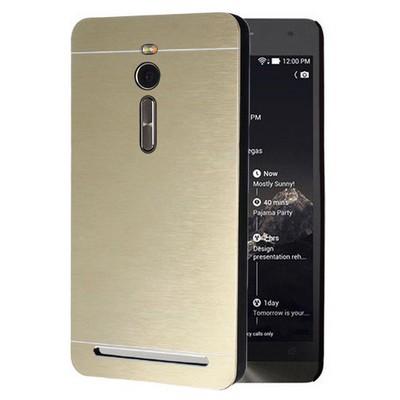 Microsonic Asus Zenfone 2 5.5'' Kılıf Hybrid Metal Gold Cep Telefonu Kılıfı