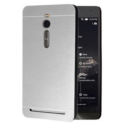 Microsonic Asus Zenfone 2 5.5'' Kılıf Hybrid Metal Gümüş Cep Telefonu Kılıfı