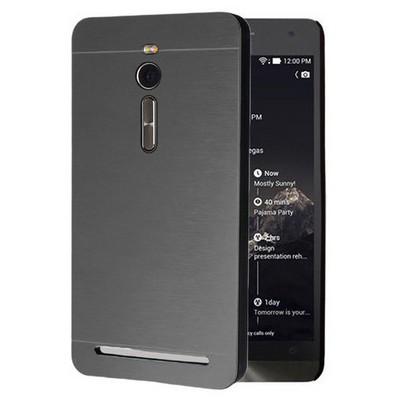Microsonic Asus Zenfone 2 5.5'' Kılıf Hybrid Metal Siyah Cep Telefonu Kılıfı