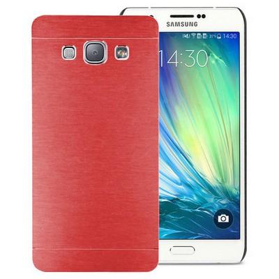 Microsonic Samsung Galaxy A8 Kılıf Hybrid Metal Kırmızı Cep Telefonu Kılıfı