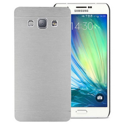 Microsonic Samsung Galaxy A8 Kılıf Hybrid Metal Gümüş Cep Telefonu Kılıfı