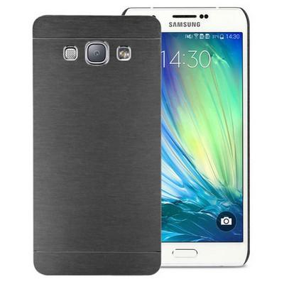 Microsonic Samsung Galaxy A8 Kılıf Hybrid Metal Siyah Cep Telefonu Kılıfı