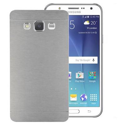 Microsonic Samsung Galaxy J7 Kılıf Hybrid Metal Gümüş Cep Telefonu Kılıfı