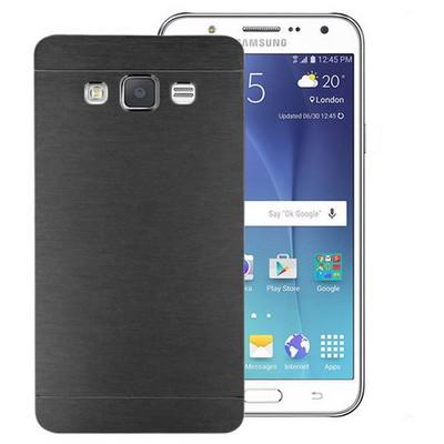 Microsonic Samsung Galaxy J7 Kılıf Hybrid Metal Siyah Cep Telefonu Kılıfı