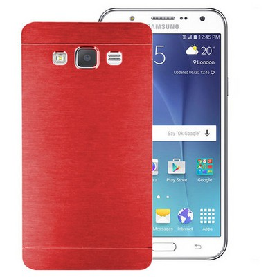 Microsonic Samsung Galaxy J5 Kılıf Hybrid Metal Kırmızı Cep Telefonu Kılıfı