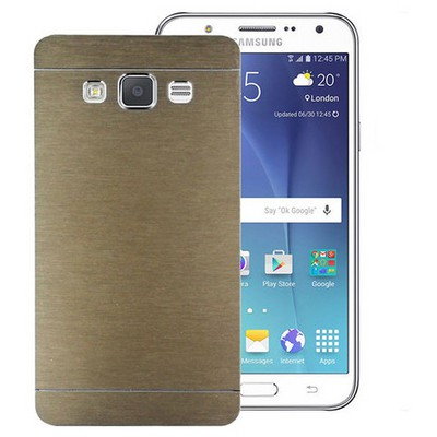 Microsonic Samsung Galaxy J5 Kılıf Hybrid Metal Gold Cep Telefonu Kılıfı