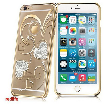redlife-iphone-6-plus-kalp-desen-bol-tasli-pc-arka-kapak-altin