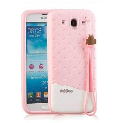 Microsonic Fabitoo Samsung Galaxy Mega 5.8'' Candy Kılıf Pembe Cep Telefonu Kılıfı