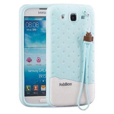 Microsonic Fabitoo Samsung Galaxy Mega 5.8'' Candy Kılıf Turkuaz Cep Telefonu Kılıfı