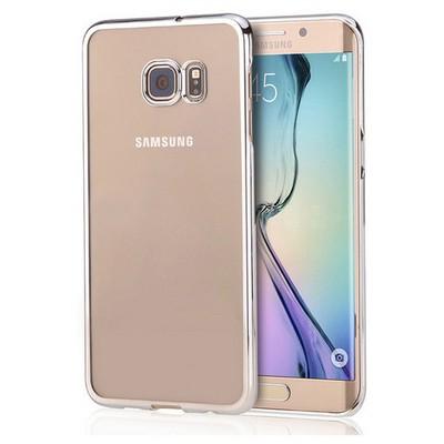 Microsonic Samsung Galaxy S6 Edge+ Plus Kılıf Metalik Transparent Gümüş Cep Telefonu Kılıfı