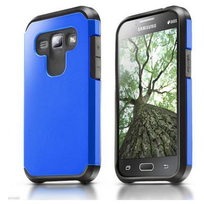 Microsonic Samsung Galaxy J1 Kılıf Slim Fit Dual Layer Armor Mavi Cep Telefonu Kılıfı
