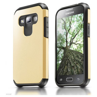 Microsonic Samsung Galaxy A7 Kılıf Slim Fit Dual Layer Armor Gold Cep Telefonu Kılıfı