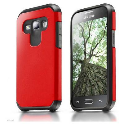 Microsonic Samsung Galaxy A7 Kılıf Slim Fit Dual Layer Armor Kırmızı Cep Telefonu Kılıfı