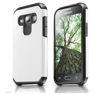 Microsonic Samsung Galaxy A7 Kılıf Slim Fit Dual Layer Armor Beyaz Cep Telefonu Kılıfı