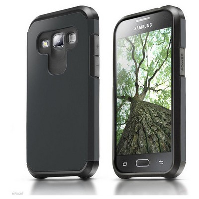 Microsonic Samsung Galaxy A7 Kılıf Slim Fit Dual Layer Armor Siyah Cep Telefonu Kılıfı
