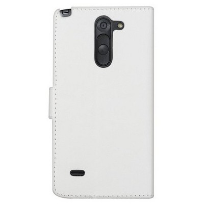 Microsonic Cüzdanlı Deri Lg G3 Stylus Kılıf Beyaz Cep Telefonu Kılıfı