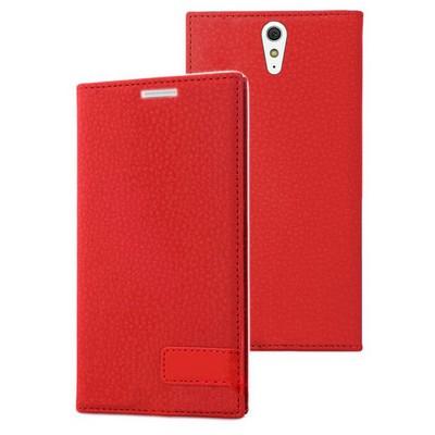 Microsonic Sony Xperia C5 Ultra Kılıf Gizli Mıknatıslı Delux Kırmızı Cep Telefonu Kılıfı