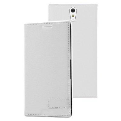 Microsonic Sony Xperia C5 Ultra Kılıf Gizli Mıknatıslı Delux Beyaz Cep Telefonu Kılıfı