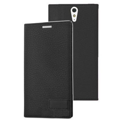Microsonic Sony Xperia C5 Ultra Kılıf Gizli Mıknatıslı Delux Siyah Cep Telefonu Kılıfı