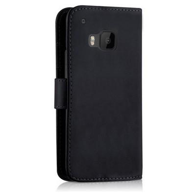 Microsonic Cüzdanlı Deri Htc One M9 Kılıf Siyah Cep Telefonu Kılıfı