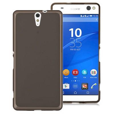 Microsonic Sony Xperia C5 Ultra Kılıf Transparent Soft Siyah Cep Telefonu Kılıfı