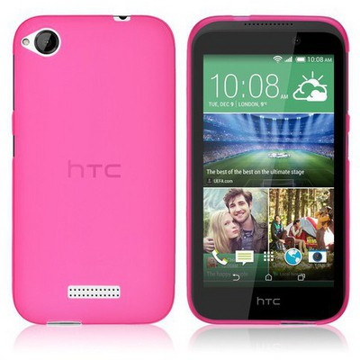 Microsonic Htc Desire 320 Kılıf Transparent Soft Pembe Cep Telefonu Kılıfı