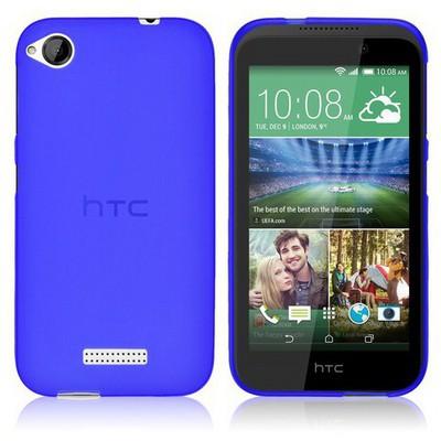 Microsonic Htc Desire 320 Kılıf Transparent Soft Mavi Cep Telefonu Kılıfı
