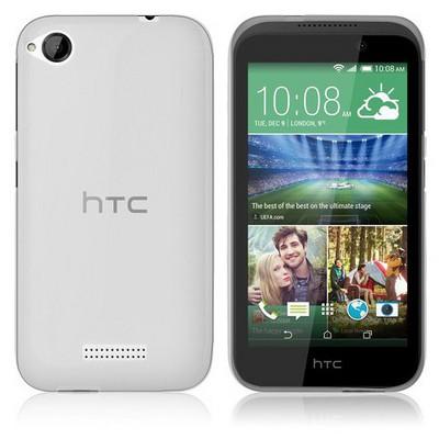 Microsonic Htc Desire 320 Kılıf Transparent Soft Beyaz Cep Telefonu Kılıfı