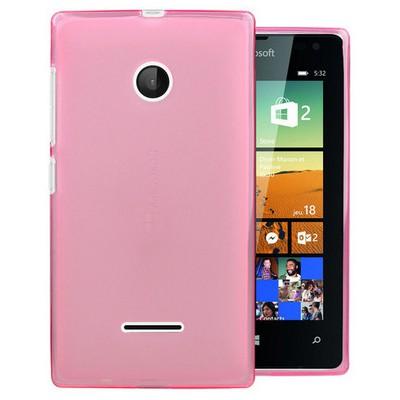 Microsonic Microsoft Lumia 532 Kılıf Transparent Soft Pembe Cep Telefonu Kılıfı
