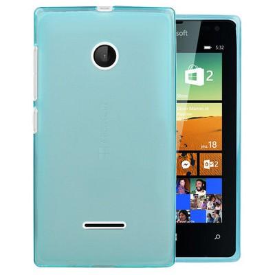 Microsonic Microsoft Lumia 532 Kılıf Transparent Soft Mavi Cep Telefonu Kılıfı