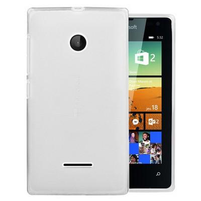 Microsonic Microsoft Lumia 532 Kılıf Transparent Soft Beyaz Cep Telefonu Kılıfı