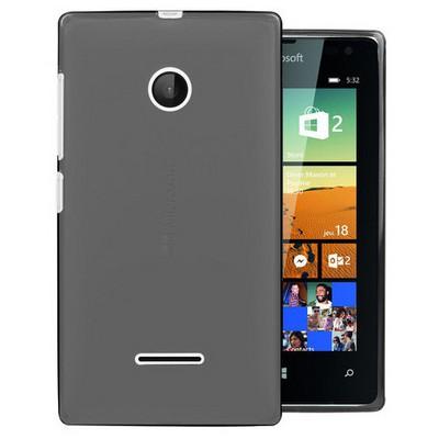 Microsonic Microsoft Lumia 532 Kılıf Transparent Soft Siyah Cep Telefonu Kılıfı