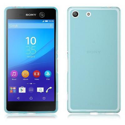Microsonic Sony Xperia M5 Kılıf Transparent Soft Mavi Cep Telefonu Kılıfı
