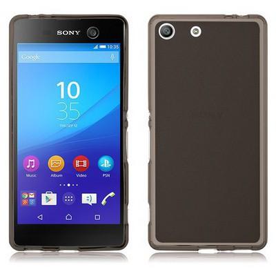 Microsonic Sony Xperia M5 Kılıf Transparent Soft Siyah Cep Telefonu Kılıfı