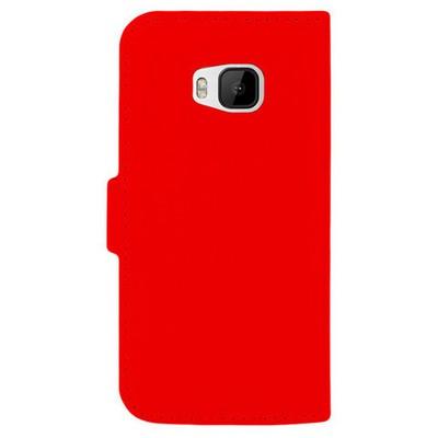Microsonic Cüzdanlı Deri Htc One M9 Kılıf Kırmızı Cep Telefonu Kılıfı
