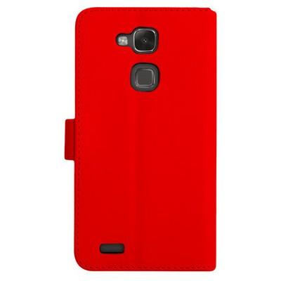 Microsonic Cüzdanlı Deri Huawei Ascend Mate 7 Kılıf Kırmızı Cep Telefonu Kılıfı