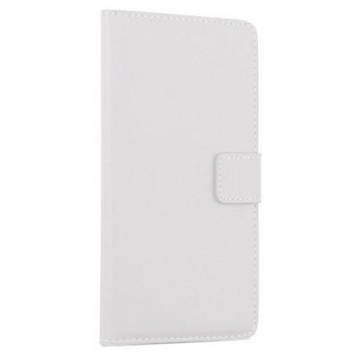 Microsonic Sony Xperia Z3+ Plus Kılıf Cüzdanlı Deri Beyaz Cep Telefonu Kılıfı